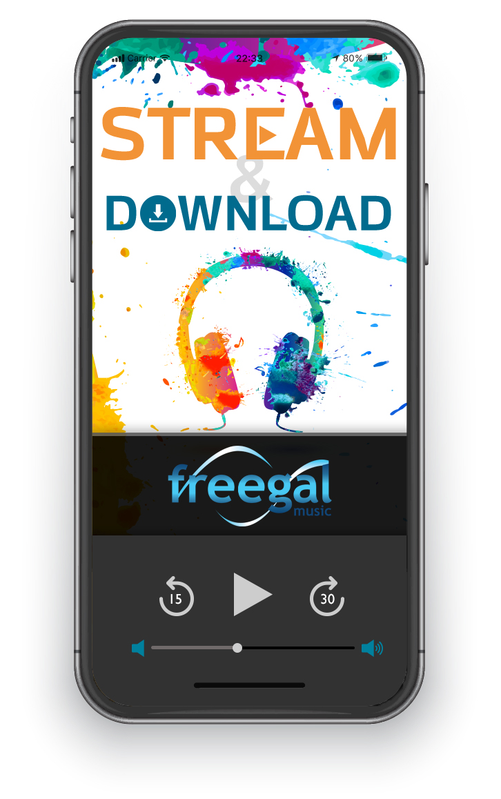 Visit hoopla to stream or download to your device from Freegal.